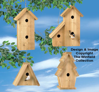 Cedar Birdhouses #2 Wood Project Plan