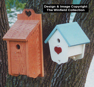 Heart Birdhouses Wood Plan