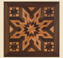 Wood Quilt Square Pattern #1