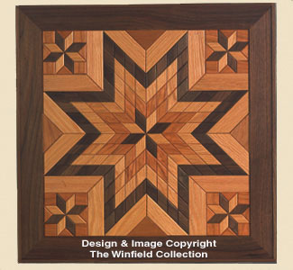 Wood Quilt Square Pattern #2