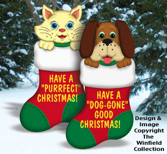 Cat & Dog Stockings Combo Patterns