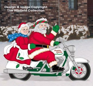 Santa Elves Easy Rider Clauses Woodcraft Pattern