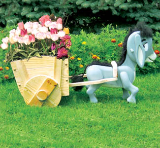 Donkey & Cart Planter Wood Plan