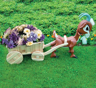 Goat & Wagon Planter Pattern