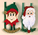 Santa & Elf Sleds Woodcraft Pattern