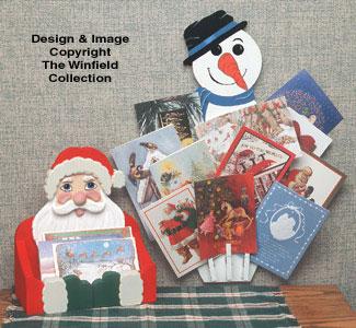 Christmas Card Holder  Wood Pattern