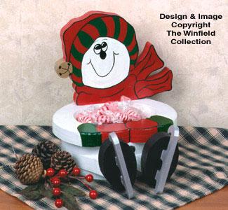 Snowman Bowl Woodcraft Pattern