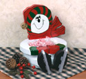 Snowman Bowl Woodcraft Pattern