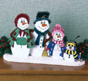 Snow Family Centerpiece Wood Pattern