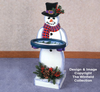 Snowman Tray Table Woodcraft Pattern
