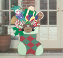 Large Christmas Stocking Wood Pattern