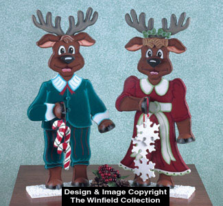 Mr & Mrs Reindeer Woodcraft Pattern