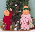 Christmas Tree Gazer Wood Pattern
