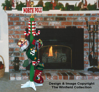 North Pole Stocking Holder Pattern