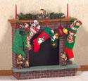 Christmas Fireplace Woodcraft Pattern