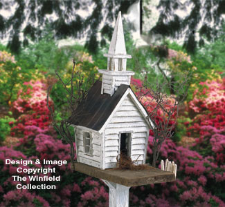 Rustic Church Birdhouse Wood Plan