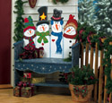Snowman Bench Woodcraft Pattern
