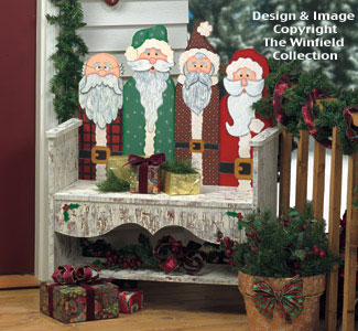 Santa Bench Woodcraft Pattern