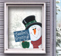 Snowman Window Greeter Pattern