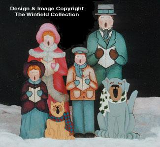 Caroling Victorian Family & Pets Pattern