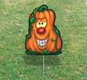 Halloween Yard Art - Smiley