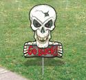 Scary Yard Art - Skull
