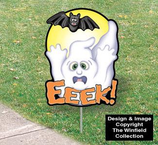 Halloween Yard Art - Eeek!