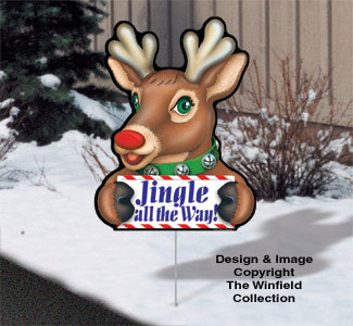 Cheerful Yard Art - Rudolph