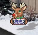 Cheerful Yard Art - Rudolph