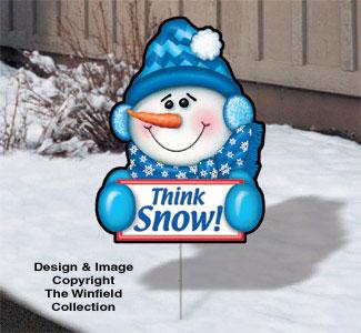 Holiday Yard Art - Snowy