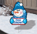 Holiday Yard Art - Snowy