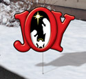 Holiday Yard Art - Joy