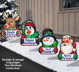 Christmas Greetings-Yard Art Set #1