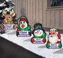 Christmas Greetings-Yard Art Set #1