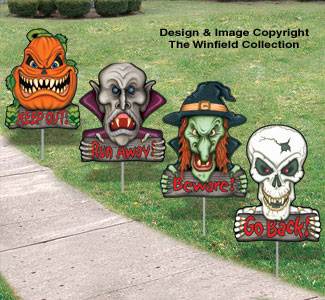 Scary Monsters-Yard Art Set #3
