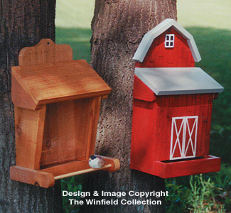 One-Sided Bird Feeder Wood Pattern