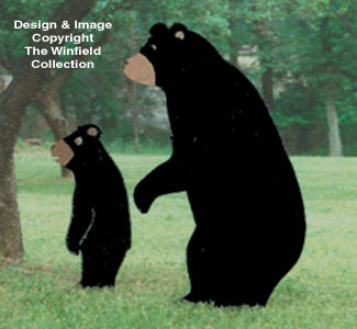 Standing Bears Woodcraft Pattern