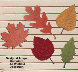 Huge Fall Leaves Woodcraft Pattern