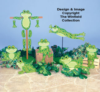 Hoppy Garden Frogs Woodcraft Pattern