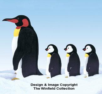 Penguin Parade Woodcrafting Pattern