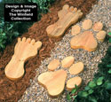 Giant Footprint Stepping Stones Pattern