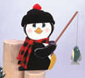 Fishin' Penguin Woodcrafting Pattern