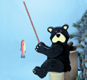 Fishin' Bear Woodcrafting Pattern