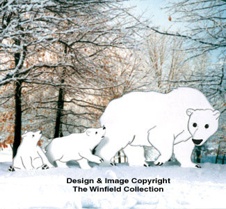 Polar Bear Family Woodcraft Pattern