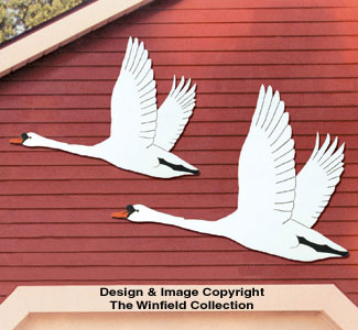 Flying Swans Woodcraft Pattern