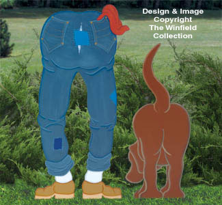 Backside Man & Dog Woodcraft Pattern