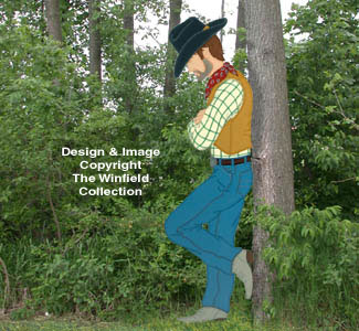 Realistic Leaning Cowboy Pattern