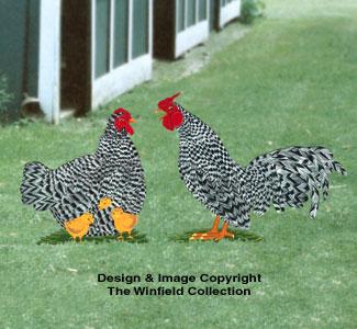 Rooster & Hen Woodcraft Pattern