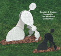 Poodle Diggin' Dogs Woodcraft Pattern
