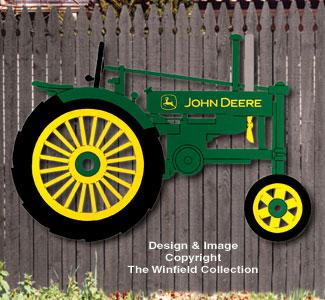 Large John Deere Tractor Woodcraft Pattern
